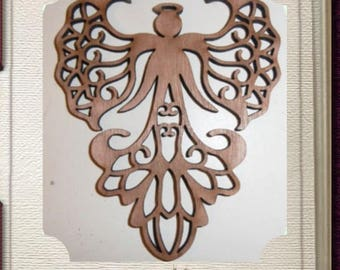 Fancy Angel Ornament - Laser Cut Wood