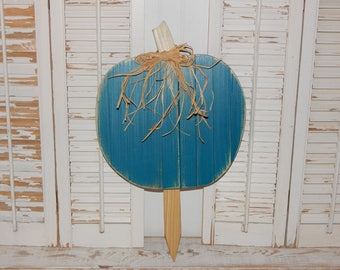 Pumpkin Yard Decor Fall Decor Porch Decor Turquoise Teal Pumpkin SALE