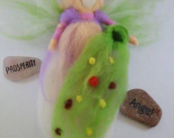 Angel Flower Fairy Needle Felted Handmade OOAK