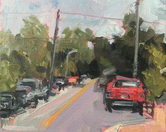 ORIGINAL Oil Painting-Urban Landscape-Modern-Plein Air-Contemporary fine art-Mini painting-Affordable home decor-Wall art