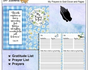 Travelers Notebook Prayer Journal Cover & Pages with Prayer and Gratitude Lists: Prayer, 8.25x4.33 inches