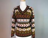 Tribal Print Sweater / Vt...