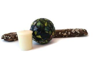 Garden Globe, Mosaic Orb, Mosaic Ball, Gazing Ball, Crystal Ball, Home Decor, Romantic Decor, Glass Ball, Stained Glass Globe, Meditation