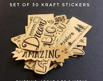 Planner stickers, scrapbook stickers, planner supplies, sticker books, cute stickers, custom stickers, kraft stickers,