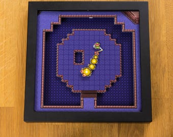Legend of Zelda - A Link to the Past (SNES) Shadowbox - Moldorm Boss
