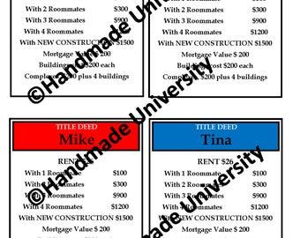 Printable: Property Deed Door Tags