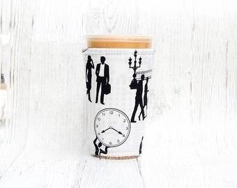 Rush Hour Cup Cozy,  Coffee Cozy, Iced Coffee Cozy, Cup Sleeve, Coffee Cozy, Coffee Cuff