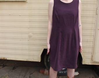 Vintage Plum Sleeveless Dress