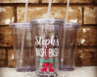 Nash Bash Cups | Nashville Bachelorette | Nashville Bachelorette Party Favors | Nashville Bachelorette Cups | Bachelorette Tumblers