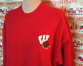 Vintage Wisconsin University Football Rose Bowl 1994 Sweatshirt