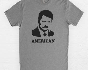 Ron Swanson Shirt - Parks & Rec - Ron Swanson - American - Gifts Under 25