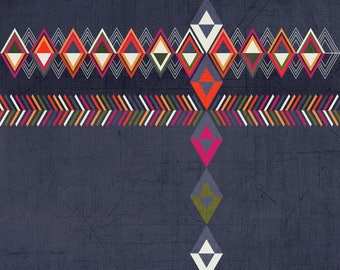 Tribal Geometric Art Print