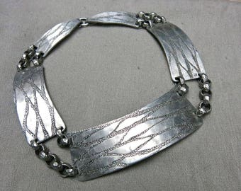 50s Aluminum Choker Statement Necklace