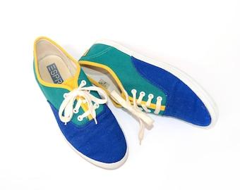 Vintage 90's ESPRIT Color-Block Sneakers Sz 7
