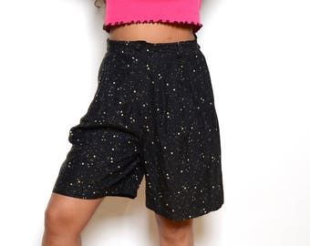 Vintage 80's George Marciano Star Print High Waisted Shorts Sz 29W