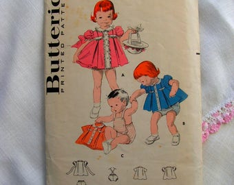 Dress Panties Sunsuit child size 1 breast 20 Butterick 8180 cut used complete htf oop vintage 1940s sewing pattern