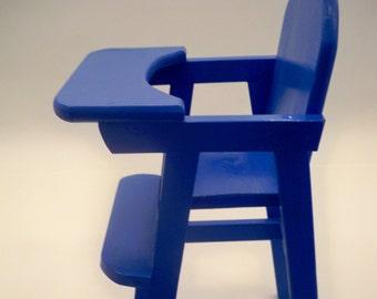 Doll High Chair, Doll Highchair,Wood Doll High Chair, Wood doll highchair, Doll Furniture,   Doll High Chair, Girls Toy, Doll Accessories