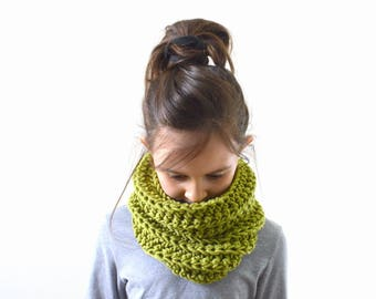 Kids Knit Scarf Cowl Neck Warmer, Children Scarf, Girls Boys Scarf Cowl | The Milan