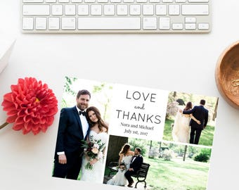Photo Wedding Thank You Card | Love and Thanks Card | Thank You Card | Wedding | Photo Thank You Card | Wedding Thank You | Thank You