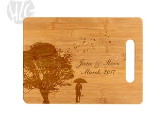Bamboo Cutting Board Wedding Gift