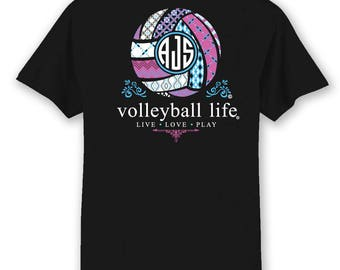 Volleyball shirt etsy for Life is good volleyball t shirt