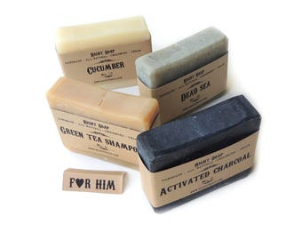 Soap set, Gift for husband, Gift for him, Gift set for Men, Christmas Gift, All Natural Soaps, Vegan Soaps