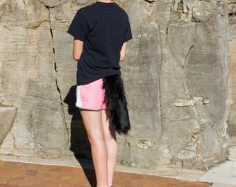 16 Inch Black Fox Tail
