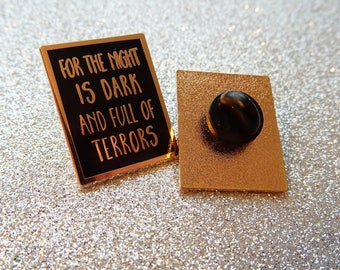 Dark is night and full of terrors - Games of Thrones Melissandre Enamel Pin