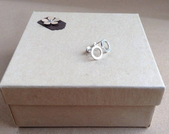 Circle studs, open circle studs, silver studs, silver earrings