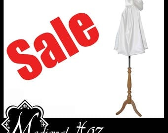 High Quality White Countess Satin Short Cloak/ Cape lined with White Shimmer Satin. Ideal for Medieval Wedding Hand Fasting SALE Bargain!