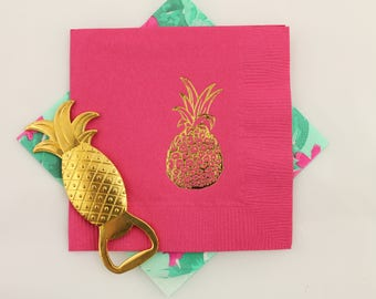 Pineapple Cocktail/Beverage Napkins