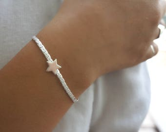 Silver Star Bracelet, Tiny Star Bracelet, Everyday Gold Bracelet, Layered Bracelet, Friendship Bracelet, Dainty Silver Jewelry.