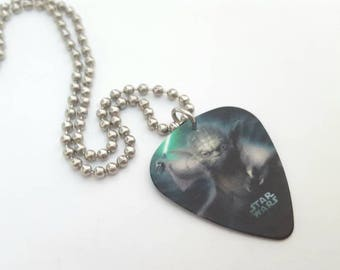 Yoda Guitar Pick Necklace with Stainless Steel Ball Chain - movies - Star Wars