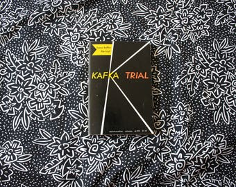 The Trial by Franz Kafka. 1970s Vintage Shocken Paperback. Classic Existential Literature. Vintage Kafka Trail Book.