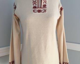 Boho Sweater/Penrose Vintage Sweater/Boho Penrose Sweater