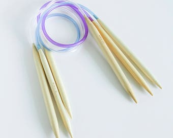 Bamboo Circular Knitting Needle Kits - 24in/60cm length (Lace, Fine, Light, Medium, Bulky, and Super Bulky weights)