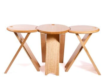 LOB UP  Set of three 450mm high artist stools musician stool side table unique design