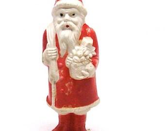 Vintage Irwin Santa Claus Celluloid Kris Kringle, 7 Inch, 1940