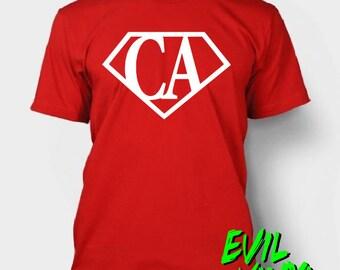 Custom CA Superhero Tshirts