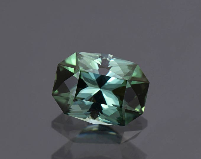 UPRISING SALE! Excellent Evergreen Tourmaline Gemstone Precision Faceted Custom Cushion 3.90 cts.