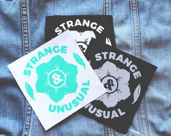 Strange & Unusual, Screen Printed Patch
