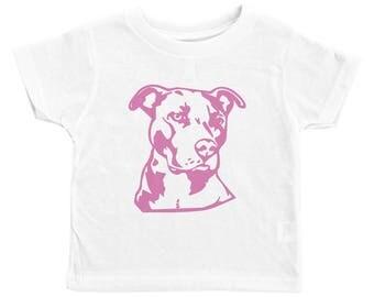 Pitbull Kids Tee, Pink Pitbull Shirt, Funny Pet Lover, Pitbull Shirt for Kids, Dog Kid Tees, Toddler Pitbull Shirt, Pink Pitbull, Dog Shirt