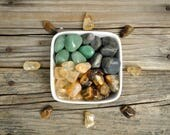Money Maker Crystal Grid, Prosperity and Abundance Grid, Tumbled Aventurine, Tumbled Citrine, Tumbled Pyrite, Tumbled Tiger Eye