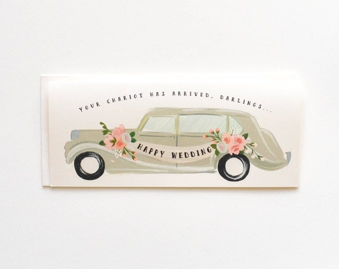 Happy Wedding Chariot has arrived Card