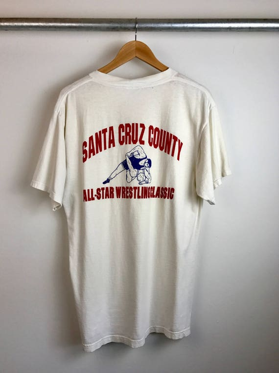 Vintage Santa Cruz County Wrestling Men's Tee