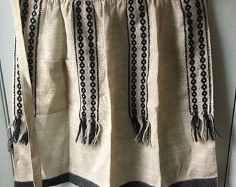 Vintage AROLA-TUOTE 100% Wool Apron Made in Finland