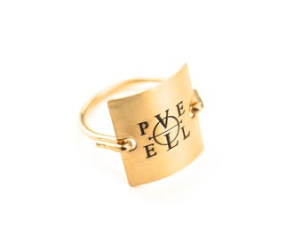 Enochian Pele Ring Gold or Silver