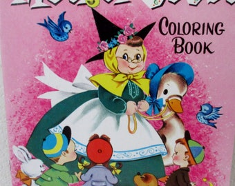 Vintage 1957 WHITMAN MOTHER GOOSE Coloring Book Unused