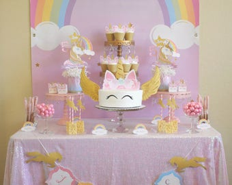 Unicorn Birthday Party, Unicorn Party, Unicorn Birthday, Unicorn Banner, Unicorn Backdrop, Unicorn Favor, Unicorn Cupcake, Unicorn Cake, Tag