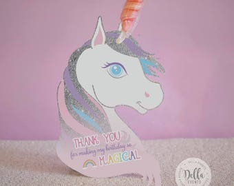 Unicorn Favor, Unicorn Favor Tag, Unicorn Birthday, Unicorn Favor Bag, Unicorn Party Favor, Unicorn Party, Unicorn Birthday Party, Silver